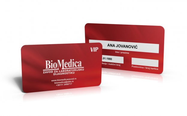 BioMedica vip kartice